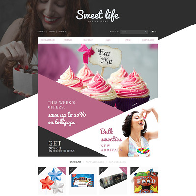 Sweets Shop PrestaShop Theme (PrestaShop theme for food stores) Item Picture