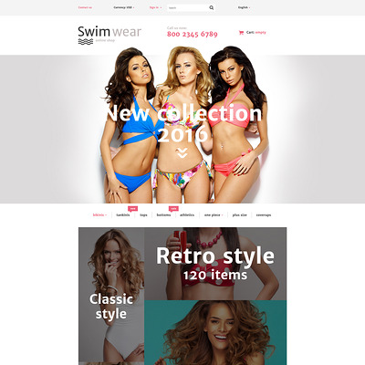 Swimwear PrestaShop Theme (PrestaShop theme for lingerie and swimwear) Item Picture