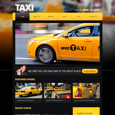 Taxi Center Joomla Template (Joomla template for transportation) Item Picture