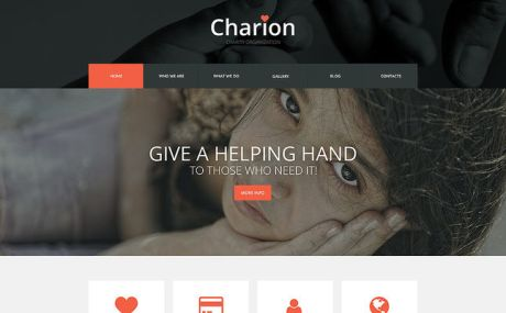 Tender Heart Community WordPress Theme (charity WordPress theme) Screenshot