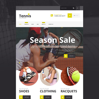Tennis Accessories Shopify Theme (Shopify theme for sports stores) Item Picture