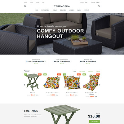Terraceda (PrestaShop theme for furniture stores) Item Picture