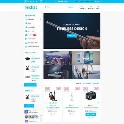 Texlist PrestaShop Theme (PrestaShop theme for electronics stores) Item Picture