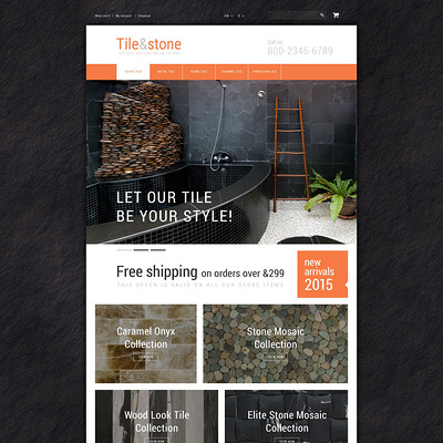 Tile Stone OpenCart Template (OpenCart themes for flooring stores) Item Picture