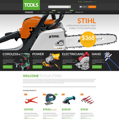 Tools Equipment Shopify Theme (Shopify theme for tools and home improvement stores) Item Picture
