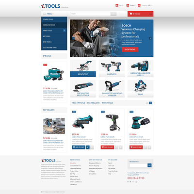 Tools and Equipment PrestaShop Theme (PrestaShop theme for selling tools) Item Picture