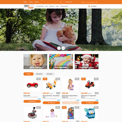 Toys for Kids PrestaShop Theme (PrestaShop theme for toy stores) Item Picture