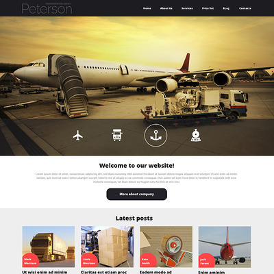 Transportation Responsive Joomla Template (Joomla template for transportation) Item Picture