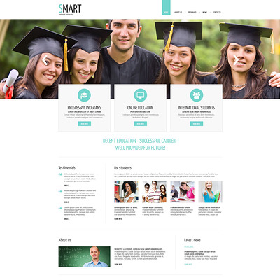 University Responsive Drupal Template (Drupal theme for education) Item Picture