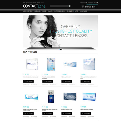 Vision Contact Lenses Magento Theme (Magento theme for medical and health stores) Item Picture