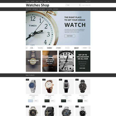 Watches Shop Magento Theme (Magento theme for selling jewelry and watches) Item Picture