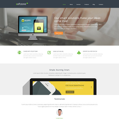 Web Development Responsive WordPress Theme (WordPress theme for promoting apps) Item Picture