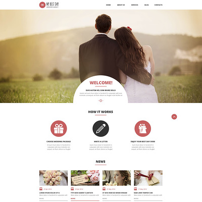 Wedding Planning Consultancy WordPress Theme (WordPress theme for wedding professionals) Item Picture
