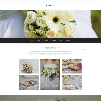 Wedding agency WordPress Theme (WordPress theme for wedding professionals) Item Picture