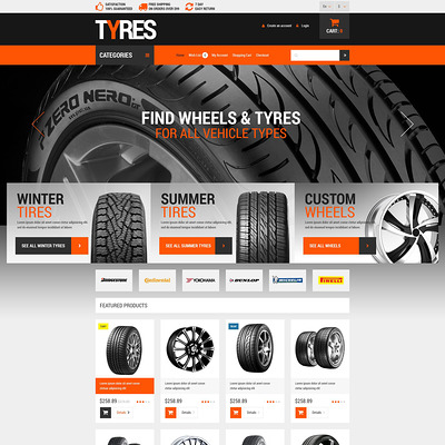 Wheels and Tyres OpenCart Template (OpenCart theme for automotive, car, and vehicle stores) Item Picture