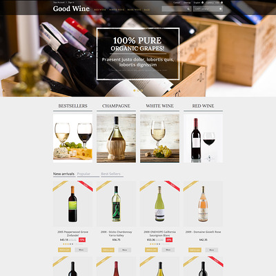 Wine of Superior Quality PrestaShop Theme (PrestaShop theme for liquor, alcohol, beer, and wine stores) Item Picture