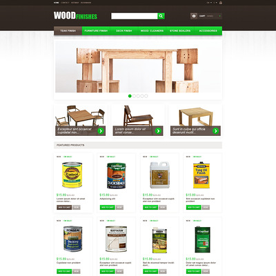 Wood Finishes PrestaShop Theme (PrestaShop theme for furniture stores) Item Picture
