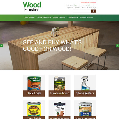 Wood Finishes Promotion Magento Theme (Magento theme for home improvement and construction supply stores) Item Picture