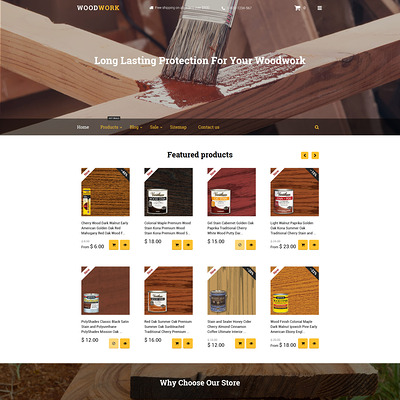Woodwork Shopify Theme (Shopify theme for tools and home improvement stores) Item Picture