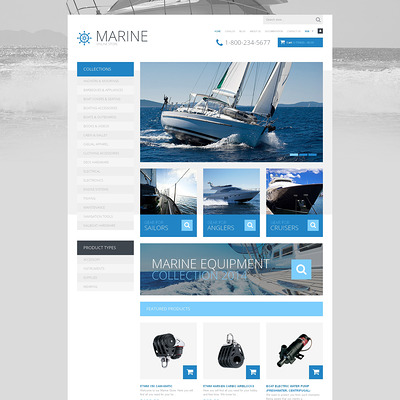 Yachting Responsive Shopify Theme (Shopify theme for sports stores) Item Picture