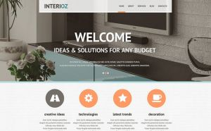 best interior design joomla templates feature