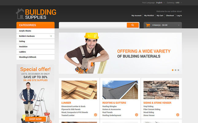 best magento themes home improvement construction supplies feature