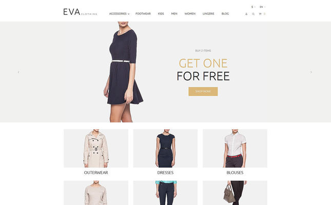 best prestashop themes womens clothing feature