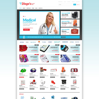 Ambulance Responsive WooCommerce Theme (WooCommerce theme for health and medical stores) Item Picture