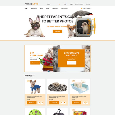 Animals Pets Shopify Theme (parallax Shopify theme) Item Picture