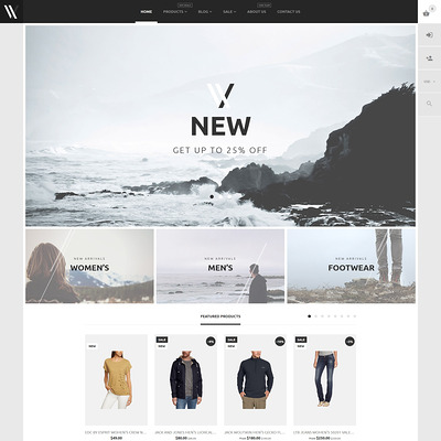 Apparel Shopify Theme (parallax Shopify theme) Item Picture