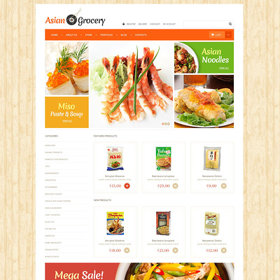 Asian Grocery Store WooCommerce Theme (WooCommerce theme for selling food and spices) Item Picture