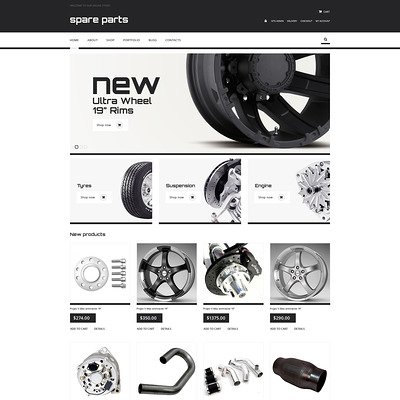 Auto Parts Responsive WooCommerce Theme (WooCommerce theme for car, vehicle, and automotive stores) Item Picture