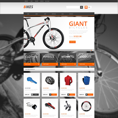 BMX Responsive WooCommerce Theme (WooCommerce theme for sports, gym, and fitness stores) Item Picture