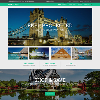 Bon Voyage Shopify Theme (parallax Shopify theme) Item Picture