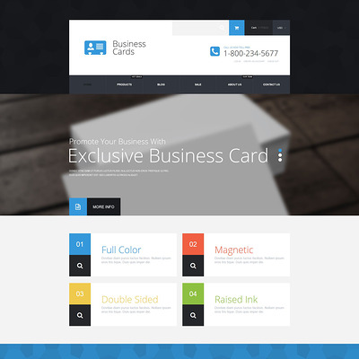 Business Cards Store Shopify Theme (parallax Shopify theme) Item Picture