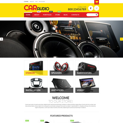 Car Audio Video Equipment WooCommerce Theme (WooCommerce theme for car, vehicle, and automotive stores) Item Picture