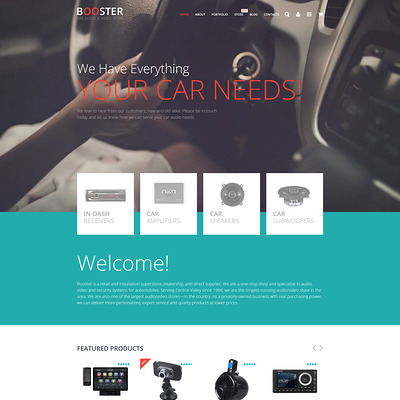 Car Audio Video WooCommerce Theme (WooCommerce theme for car, vehicle, and automotive stores) Item Picture