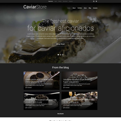 Caviar Online Store WooCommerce Theme (WooCommerce theme for selling food and spices) Item Picture