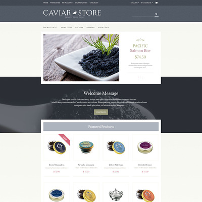 Caviar Store OpenCart Template (OpenCart theme for selling food and spices) Item Picture