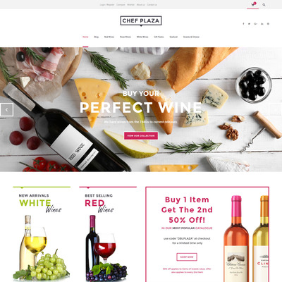Chef Plaza Food And Wine Store WooCommerce Theme (WooCommerce theme for selling wine) Item Picture