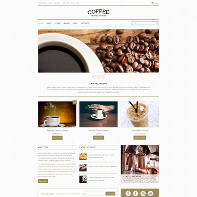 Coffee Shop Responsive WooCommerce Theme (WooCommerce theme for selling tea and coffee) Item Picture