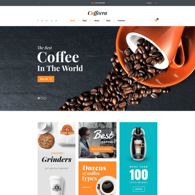 Coffee Shop WooCommerce Theme (WooCommerce theme for selling tea and coffee) Item Picture