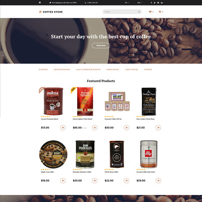 Coffee Store OpenCart Template (OpenCart theme for selling tea and coffee) Item Picture