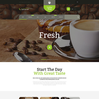Coffee Store Shopify Theme (parallax Shopify theme) Item Picture