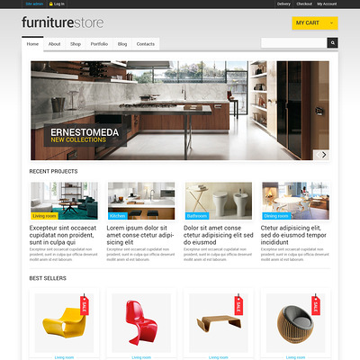 Comfortable Furniture WooCommerce Theme (WooCommerce theme for furniture stores) Item Picture
