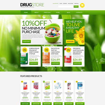 Drugstore WooCommerce Theme (WooCommerce theme for health and medical stores) Item Picture