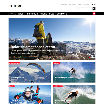 Extreme Sports Shop WooCommerce Theme (WooCommerce theme for sports, gym, and fitness stores) Item Picture