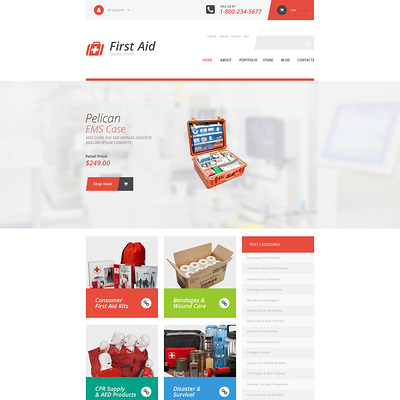First Aid Supplies WooCommerce Theme (WooCommerce theme for health and medical stores) Item Picture