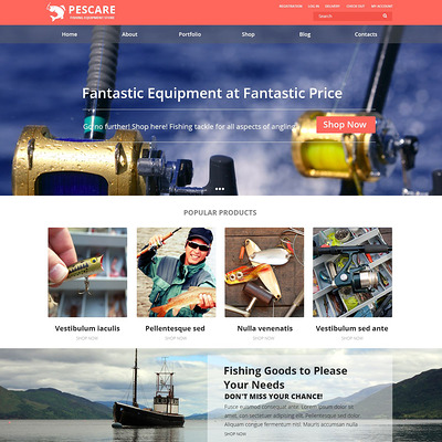 Fishing Gear WooCommerce Theme (WooCommerce theme for marine, yachting, diving, and fishing stores) Item Picture