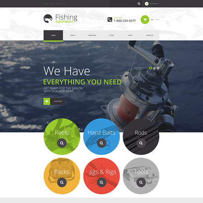 Fishing Kit WooCommerce Theme (WooCommerce theme for marine, yachting, diving, and fishing stores) Item Picture